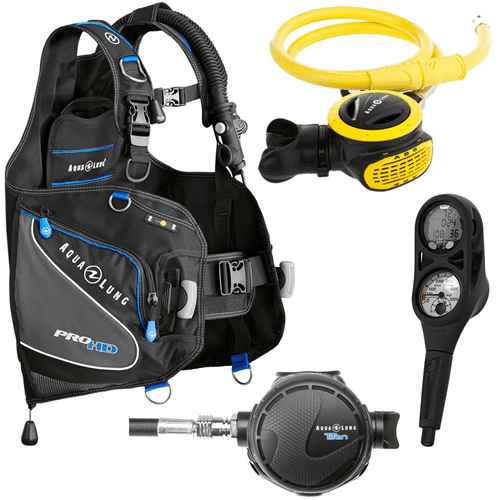 Package deal on Aqualung BCD, regulator and dive computer set