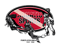 Aquatic Sports logo blending scuba tradition and modern techniques and technologies