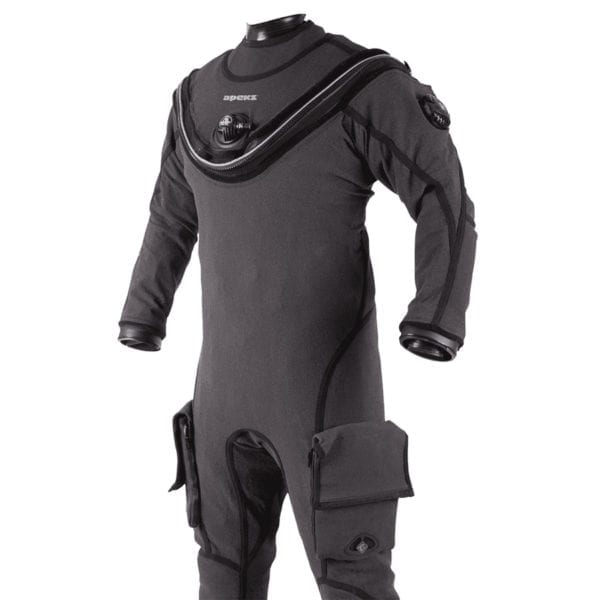 The rugged Apeks KVR1 Dry Suit with Aircore Lining
