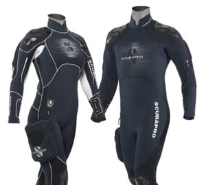 Stay warm in the Novascotia semi-dry suit