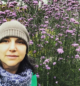 Raina's selfie in a spring meadow